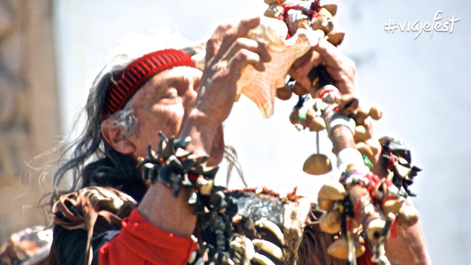 Honrando a los 4 abuelos en el santuario de Cuauhtémoc