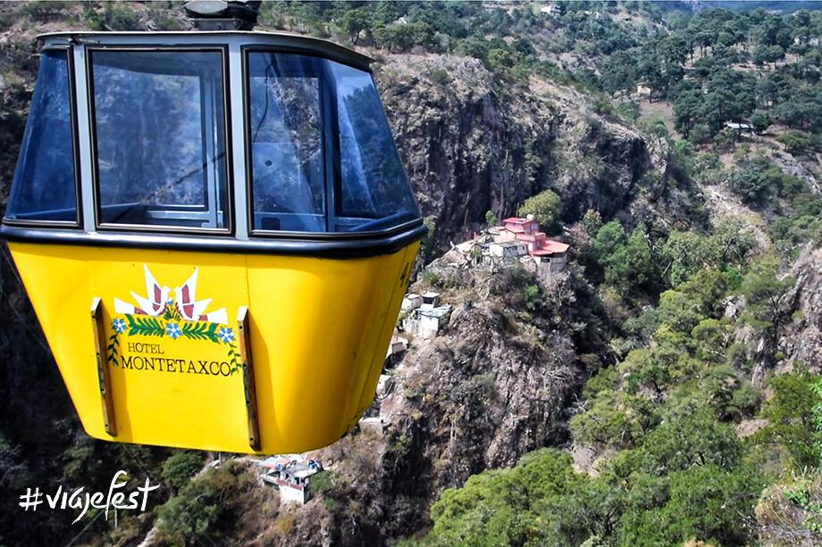 Teleférico hacia el Hotel Monte Taxco