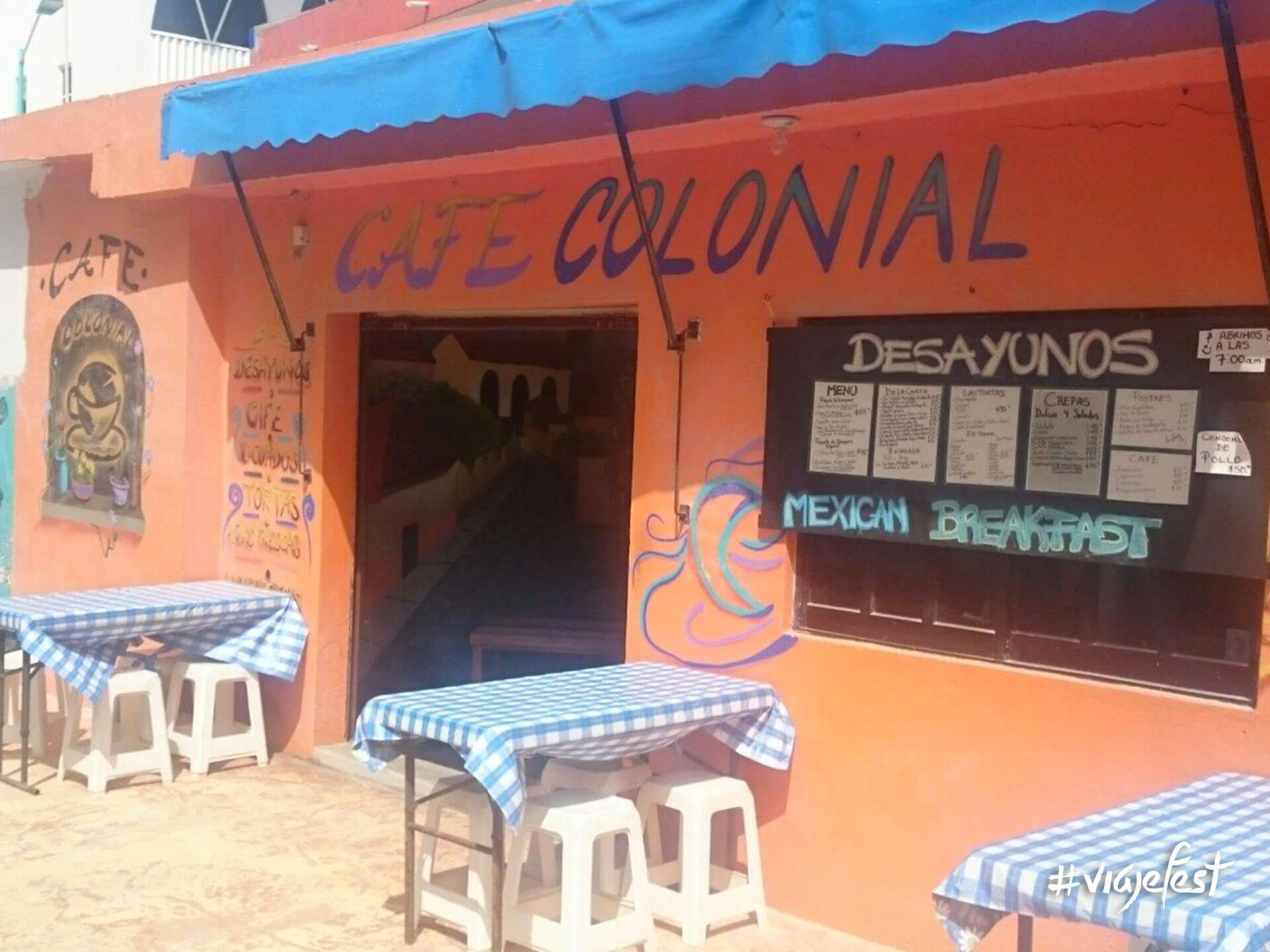 Café Colonial en Mahahual