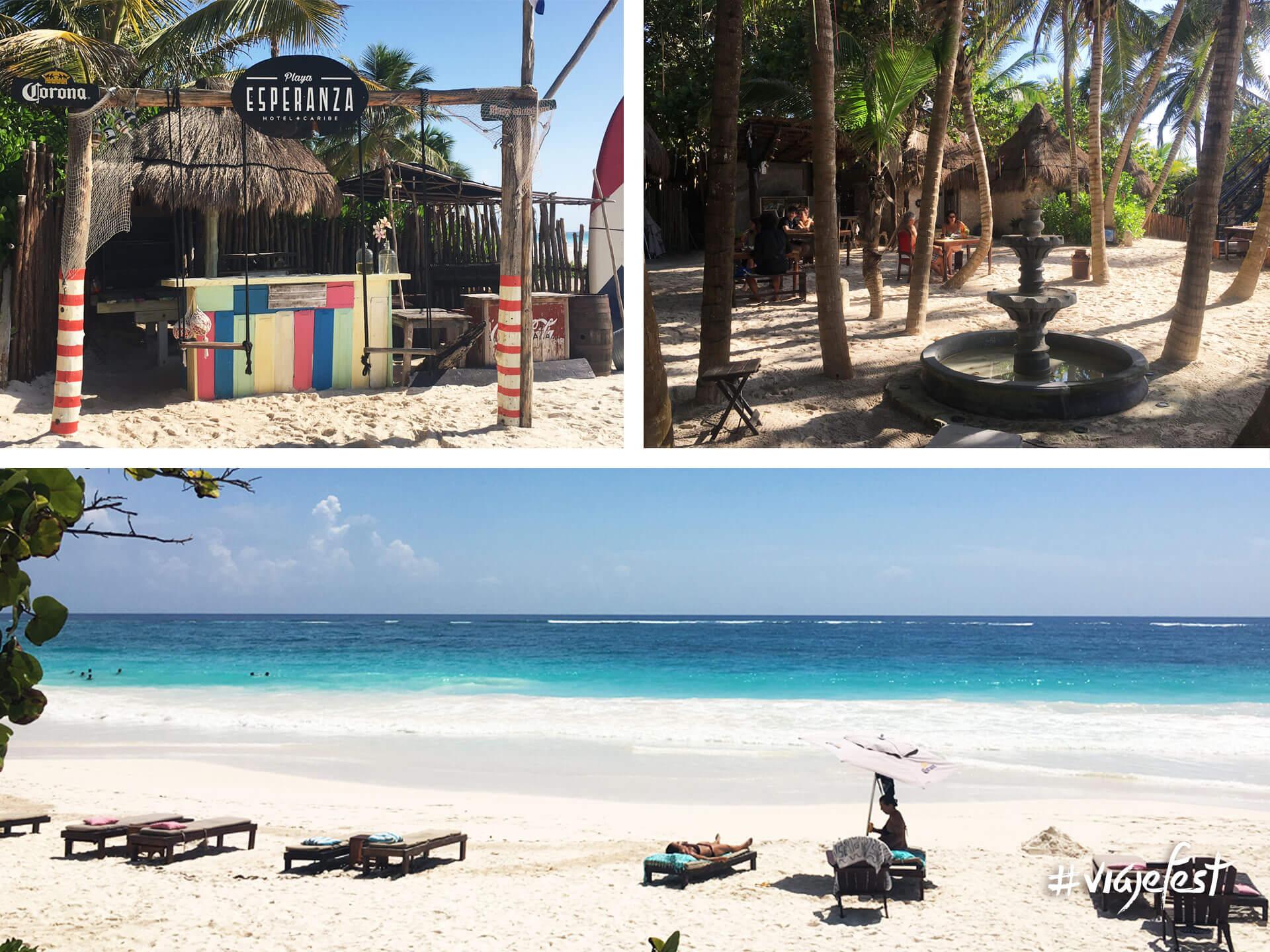 Hotel Playa Esperanza, club de playa y restaurante.