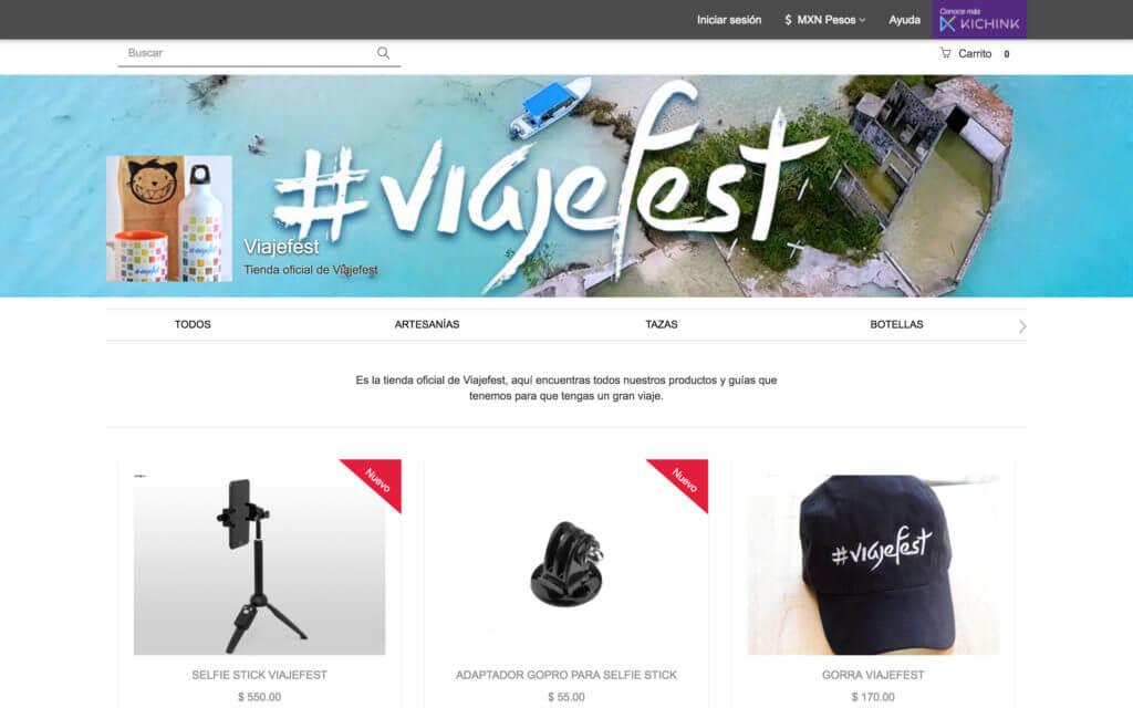 Tienda en línea de Viajefest