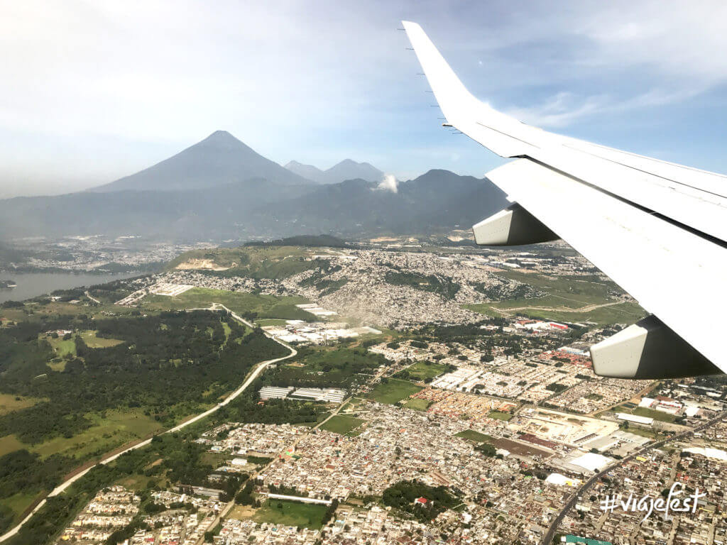 Vista aérea de Guatemala