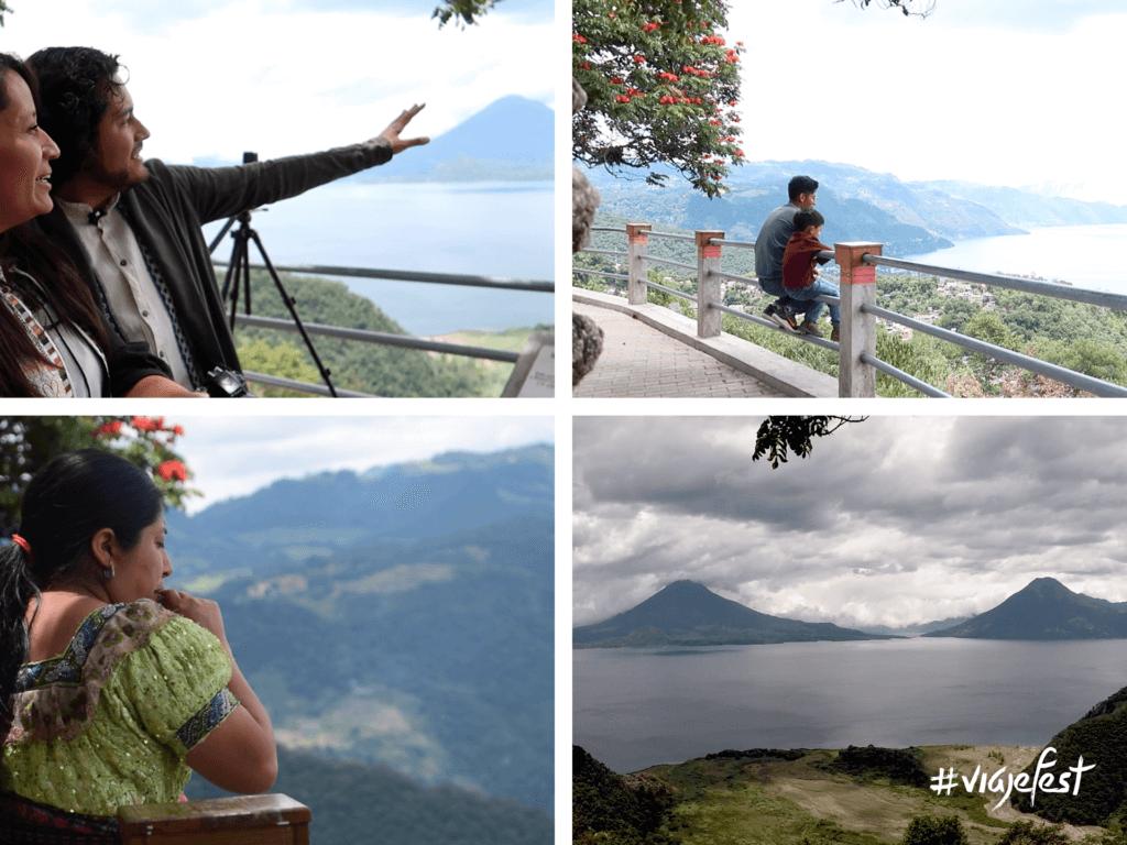 Mirador San Jorge la Laguna, desde ahí puedes apreciar el Lago de Atitlán