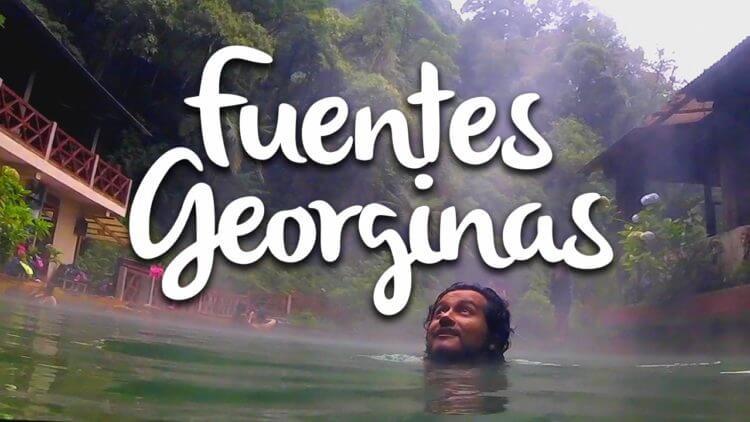 Las Fuentes Georginas son aguas termales en Guatemala