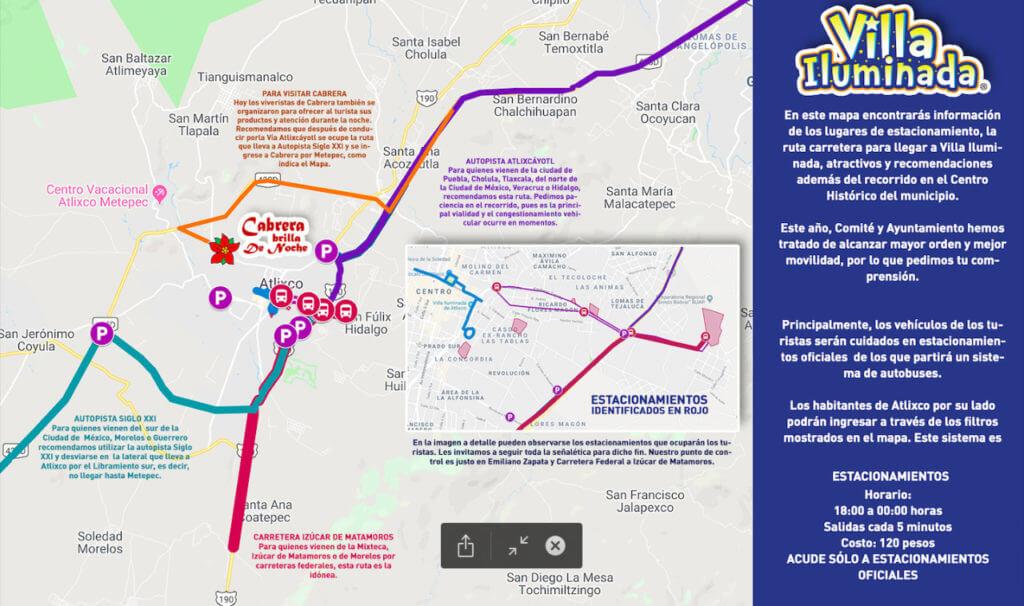Mapa de estacionamientos Villa Iluminada 2018