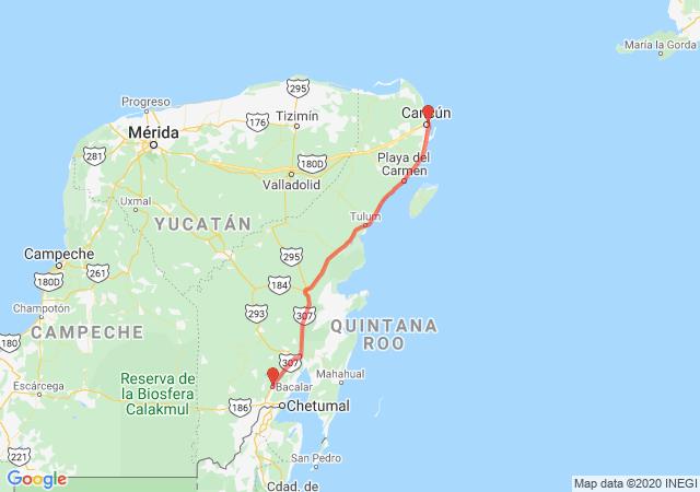 Autobuses a Bacalar desde Cancún
