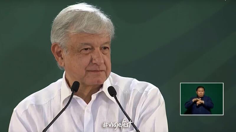 Presidente de México Andrés Manuel López Obrador en conferencia matutina desde Cancún 25 de junio 2019