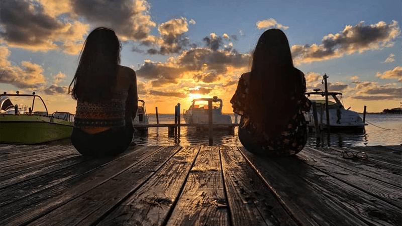 Bello atardecer en La Isla, Cancún
