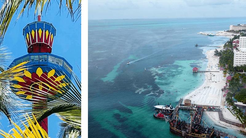 Vista desde la torre escénica de Cancún