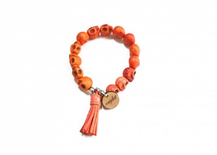 Pulsera Dia de Muertos Naranja